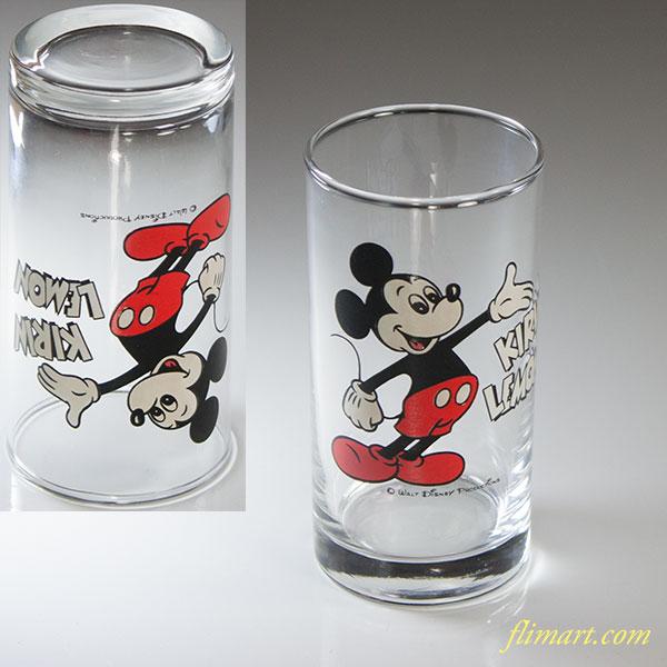 キリンレモンディズニーミッキーガラスコップ