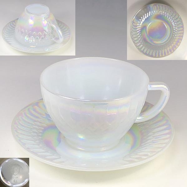 フェデラルグラスオーロラカップ&ソーサーR6853