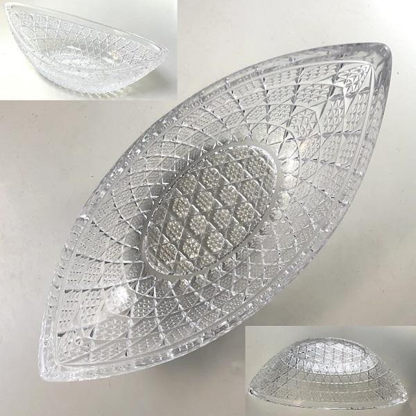 クリスタルガラス舟型小鉢R7346