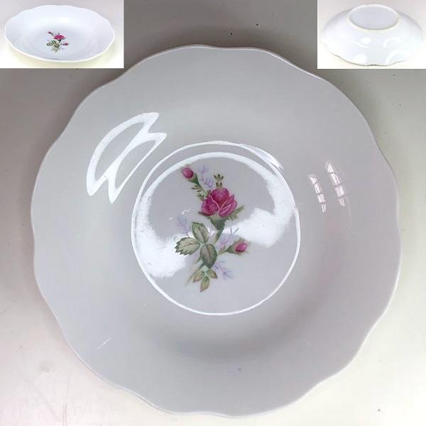 薔薇柄小皿R7576