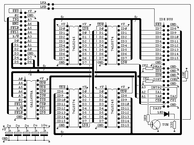IDE bus interface circuit