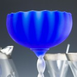 Tall 1960's Italian art glass goblet vase by Carlo Moretti.