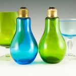 Colorful light bulb shakers from Hippy era 1969.