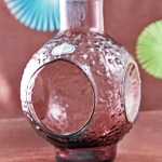 Hippie decor glass votive candleholder by Rainbow Art Glass.