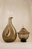 Made by Erickson Glass Works, a Swedish glass maker who immigrated to the U.S. in the early 1900s.