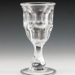 Ashburton Cordial Goblet Early American Pressed Glass