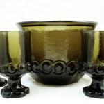Medieval Decor bar glass by Tiffin, USA, circa 1970's