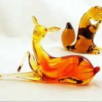 Large, graceful and delicate glass deer figurine is in excellent condition. Circa 1970's, made by Pilgrim Art Glass.  Shown in Pilgrim's 1970 catalog as item number 936 'Bambi'