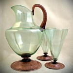 Exquisite antique Venetian mouth blown glass by a master of the craft, estimated circa; early 1900's.