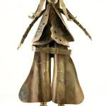 """Hong Kong's version of Buffalo Bill in a detailed brass 14"""" tall sculpture."""