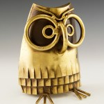 This is a rare and wonderful original C Jere owl bookend made of brass.
