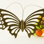 Big brass butterfly wall art from the 1960s.