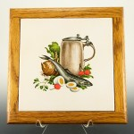 Retro kitchen decor framed tile