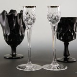 Signed Wedgwood crystal candle stick holder set. Quality and elegance for your table.