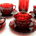 It's great fun to collect the Bubble pattern. A large number of table glass and decorative forms were produced.