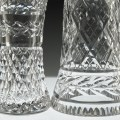 Vintage Waterford crystal is of much higher quality than contemporary Waterford. It's heavier, contains lead which gives it hardness and brilliance, has better quality decor