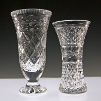 Waterford-Crystal-Vases Signed.