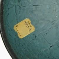 "The base still retains Blenko's inventory label. It reads: ""Blenko, Milton W.VA 0920L""."