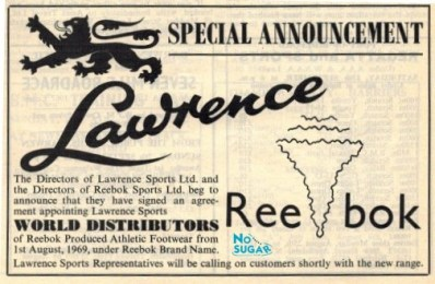 Reebok Distributor Announcement Aug 1968