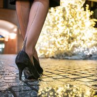 Glamorous Nylons and Tights for Christmas, New Year's Eve & other festive Occasions