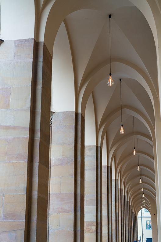 Die Laubengänge im Münchner Hofgarten