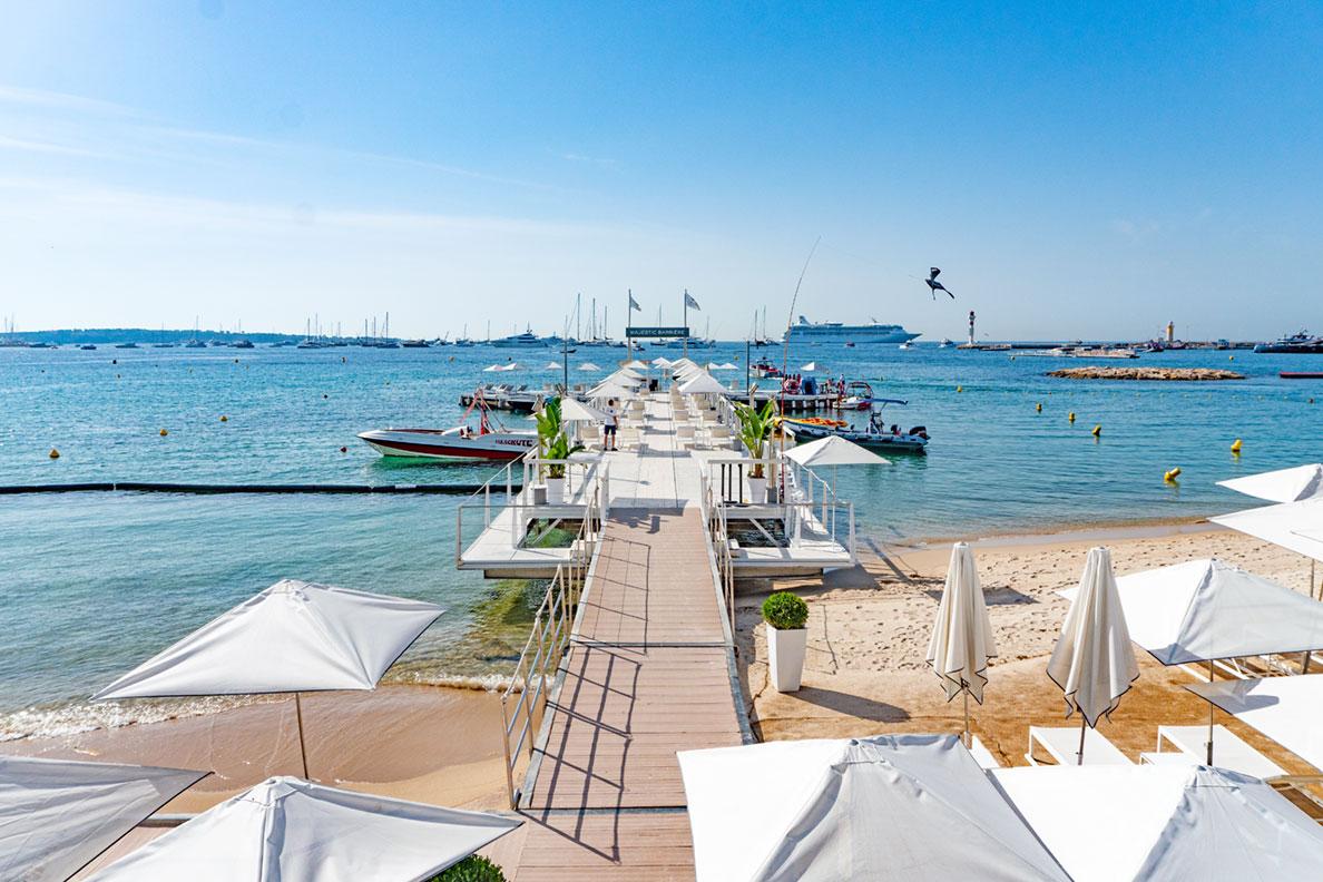 Côte d'Azur Highlights: Ein traumhafter Strand in Cannes