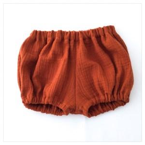 bloomer-shorty-gaze-coton-terracotta-bébé-enfant