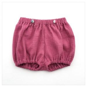 bloomer-shorty-gaze-coton-pétale-boutons-liberty-poppy-and-daisy-rose-bébé-enfant