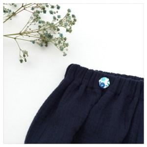 bloomer-shorty-gaze-coton-marine-boutons-liberty-wiltshire-curaçao-bébé-enfant