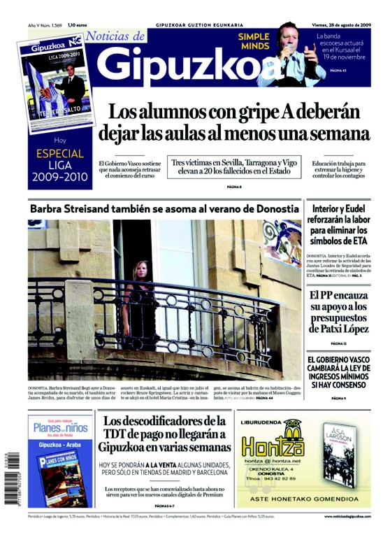 Streisand-San-Sebastian-Portada-NoticiasDeGipuzkoa