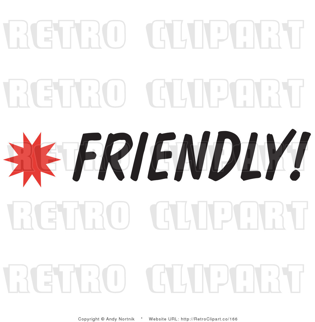 Clip Art Friendly Sign Royalty Free Retro Vector by Andy