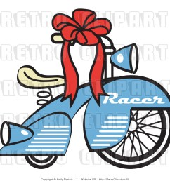 royalty free retro vector clip art of a bicycle [ 1024 x 1044 Pixel ]