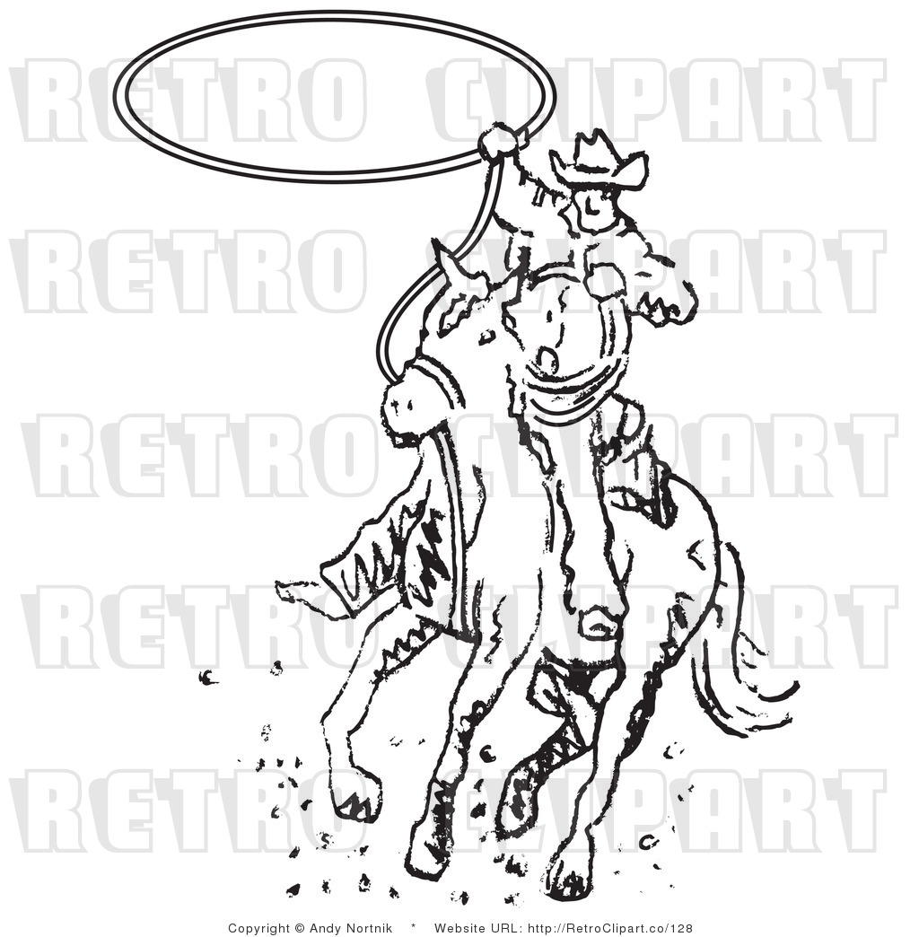 Royalty Free Retro Vector Clip Art Of A Black And White