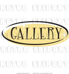 royalty free retro vector clip art of a gallery website button [ 1024 x 1044 Pixel ]