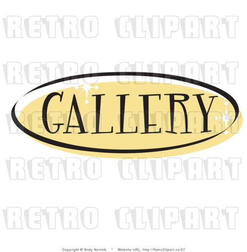 small resolution of royalty free retro vector clip art of a gallery website button