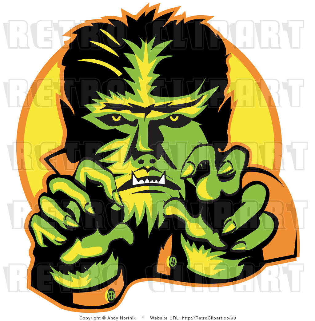 hight resolution of royalty free retro vector clip art of a werewolf