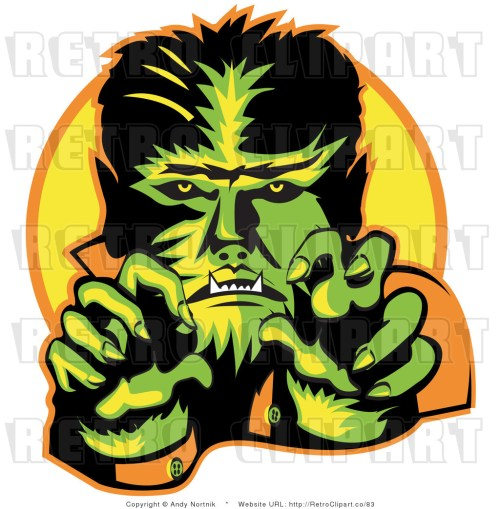 small resolution of royalty free retro vector clip art of a werewolf