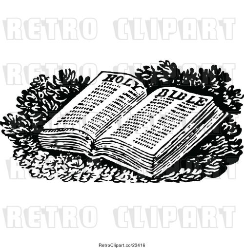 small resolution of vector clip art of retro open holy bible