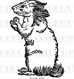 vector clip art of retro porcupine [ 1024 x 1044 Pixel ]