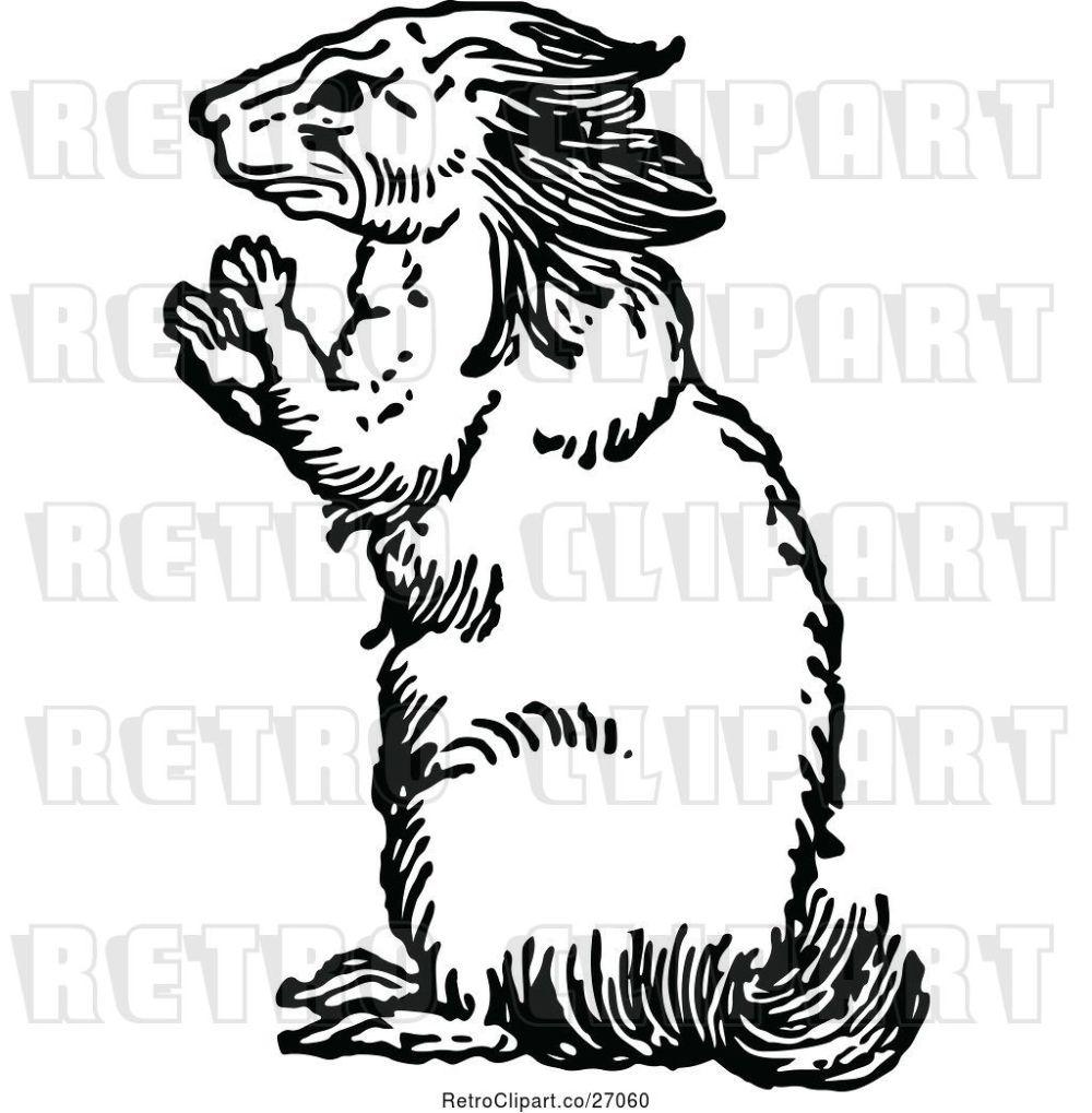 medium resolution of vector clip art of retro porcupine