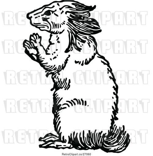 small resolution of vector clip art of retro porcupine