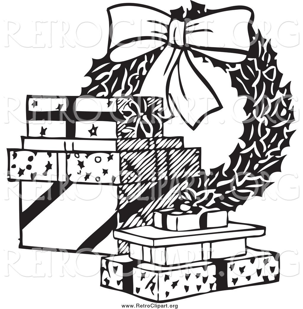 Royalty Free Wreath Stock Retro Designs