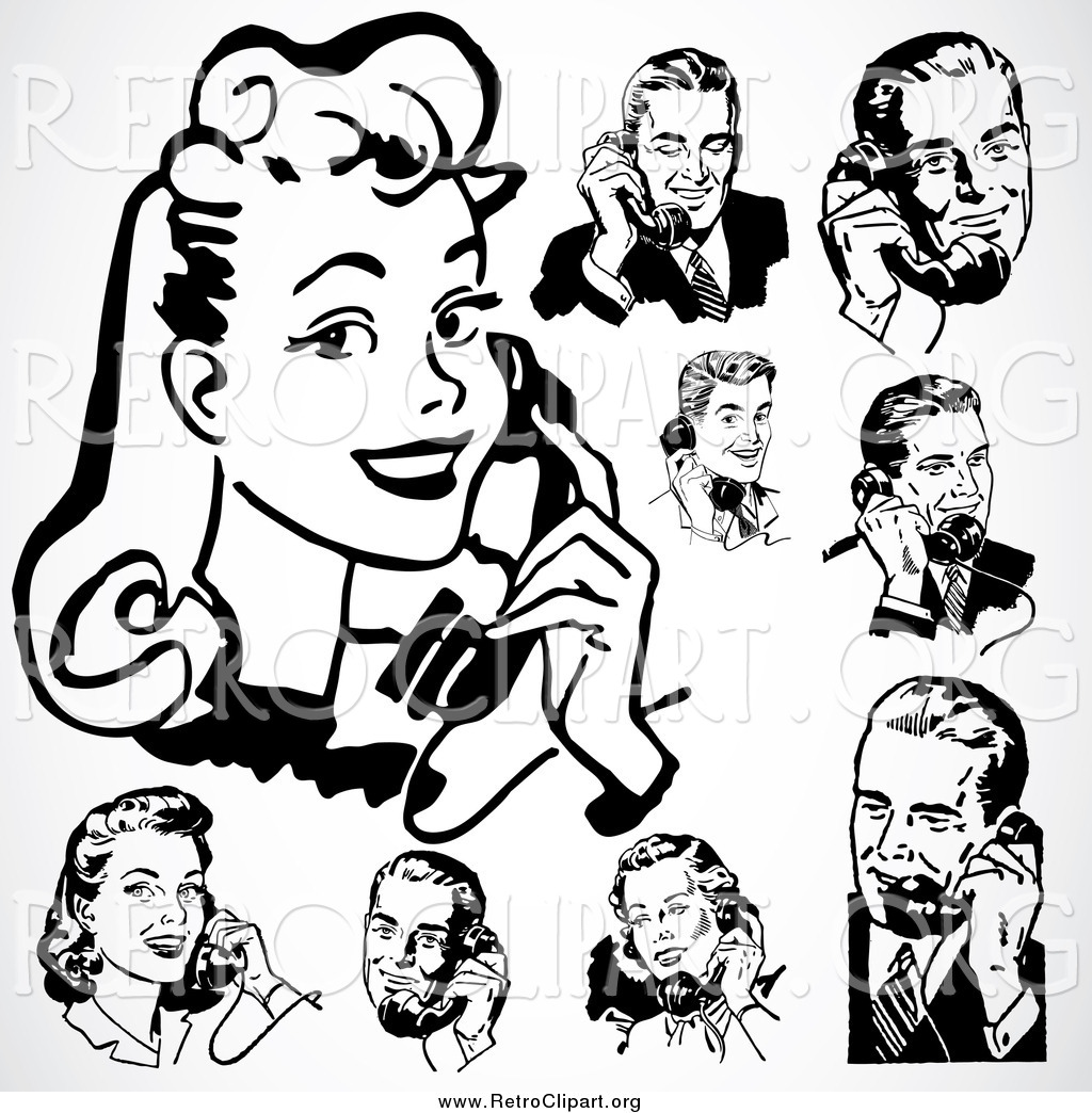 Royalty Free Telephone Call Stock Retro Designs