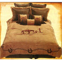 Praying Cowboy Embroidered Western Comforter Set