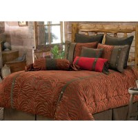 Red Zebra Western Bedding Comforter Set