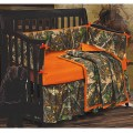 Orange camo bedding baby oak camo baby crib bedding set camouflage