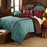 Cheyenne Western Bedding Set Floral Design Turquoise