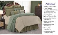 Arlington Transitional Comforter Set - Super Queen