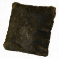 Faux Fur Brown Mink Pillow