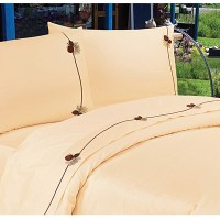 Pine Cone Northwestern Lodge Embroidered Sheet Set (Cream)